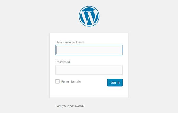WordPress Innskráning
